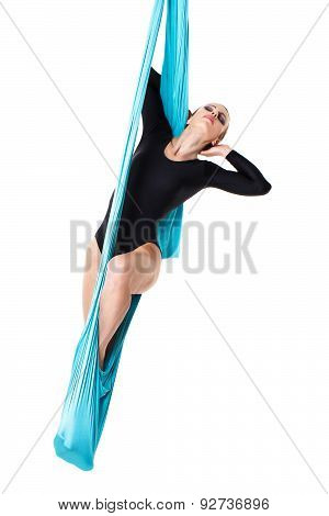 Woman Performer On Aerial Silk