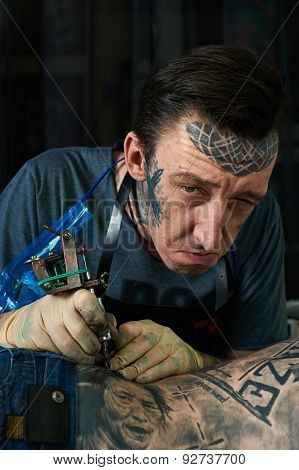 Portrait Of Freaky Tattoo Master