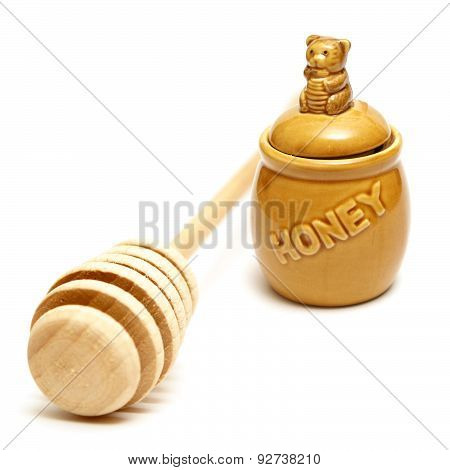 Honey Pot And Stick