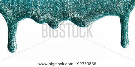 Blot Of Shimmery Nail Polish