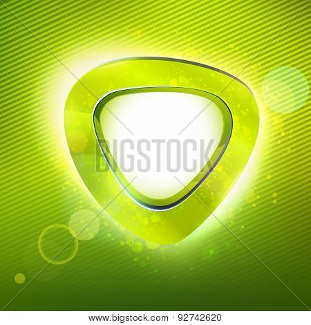 Summer Curve Form Green Colors Label