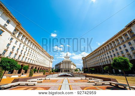 Ensemble of three Socialist Classicism edifices in Sofia