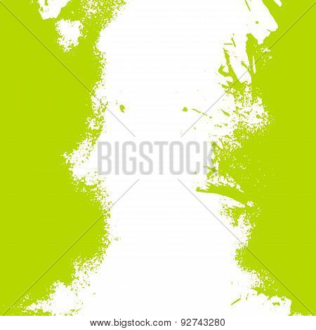 Vector Vertical Summer Green Paint Splash Frame