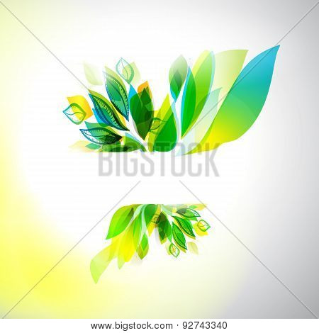 Summer Decorative Frame, Floral Background