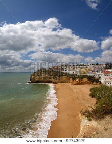 Carvoeiro Beach At Algarve