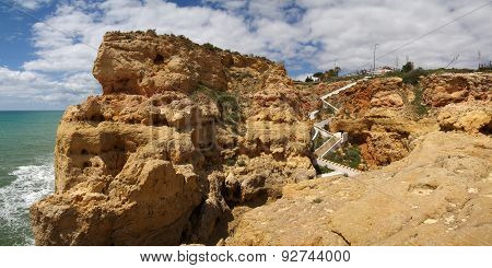 Algar Seco Stairs At Algarve
