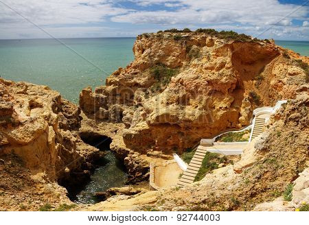 Algar Seco Pool At Algarve