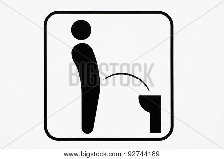 Symbol of toilet