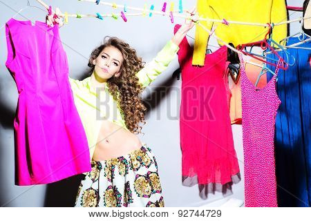 Sensual Pretty Young Girl With Clothes