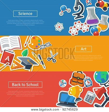 Flat design vector illustration concepts of education.