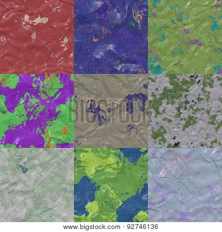 Set of Color Clay Wall Seamless Textures