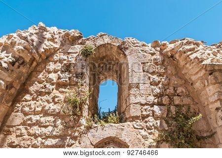 Ruins Of Byzantine Church In Jerusalem