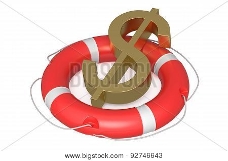 Dollar On Lifebuoy