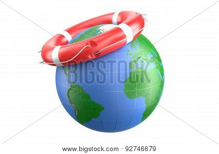 Lifebuoy And Earth