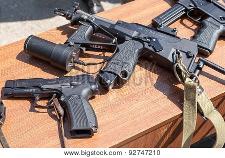 Russian weapons. Submachine gun