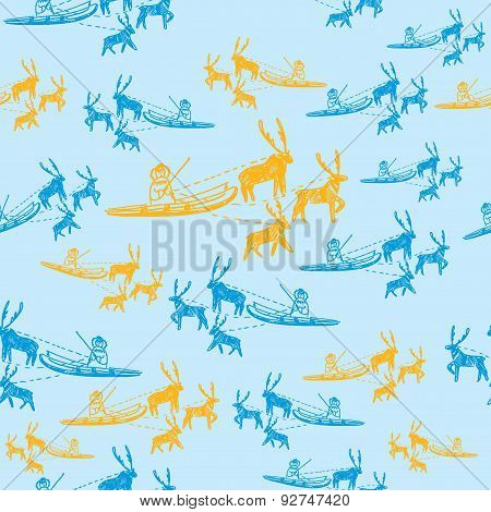 Seamless Pattern Of Eskimo