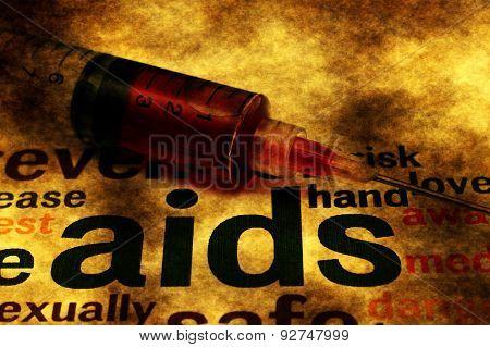 Aids Grunge Concept