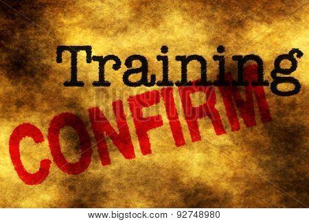 Training Confirm