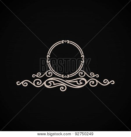 Vintage vector logo. Calligraphic elegant decor element