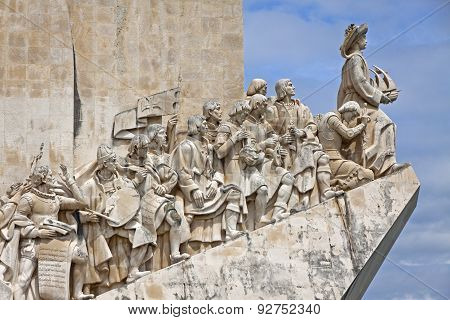 Monument To The Discoveries In Belem, Lisbon, Portugal