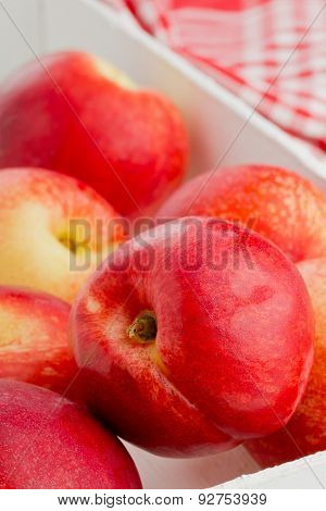 Whole White Nectarines In Crate