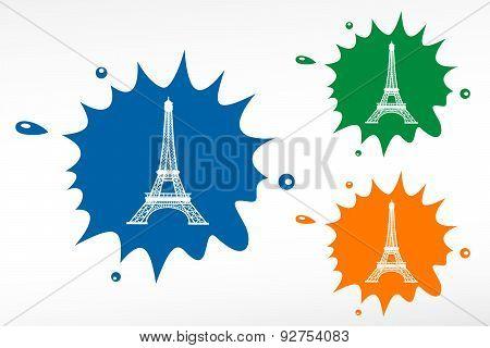 Eiffel Tower In Paris, France - Color Blob