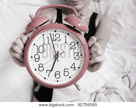 Alarm Clock With Female Hands