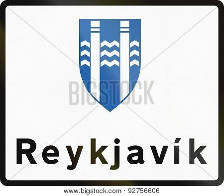 Reykjavik Boundary Sign In Iceland