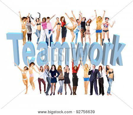 Colorful Teammates Sample Design