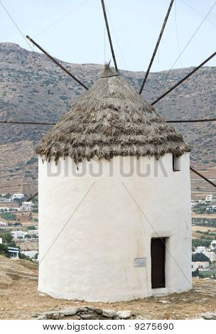 Greek Island Windmill Ios Cyclades