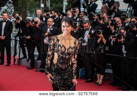 Michelle Rodriguez attends the 'Mad Max : Fury Road' Premiere during the 68th annual Cannes Film Festival on May 14, 2015 in Cannes, France.