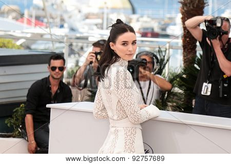Rooney Mara,  attend the 'Carol' Photocall during the 68th annual Cannes Film Festival on May 17, 2015 in Cannes, France.