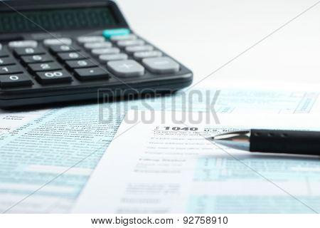 Tax Form Financial Concept