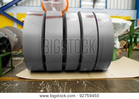 Rolls Of Metal In Factory