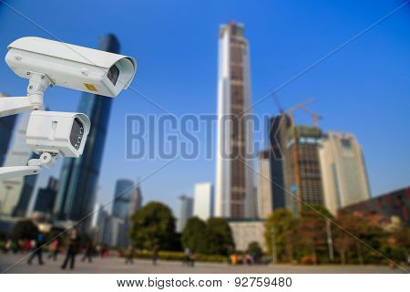 Cctv And Infrared Lamp For Park