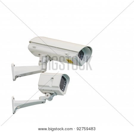 Isolated Cctv Camera And Infrared Lamp