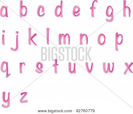 small letters a to z design