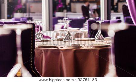 set in the restaurant