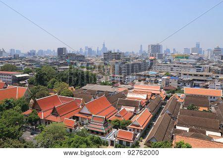 Bangkok cityscape temple