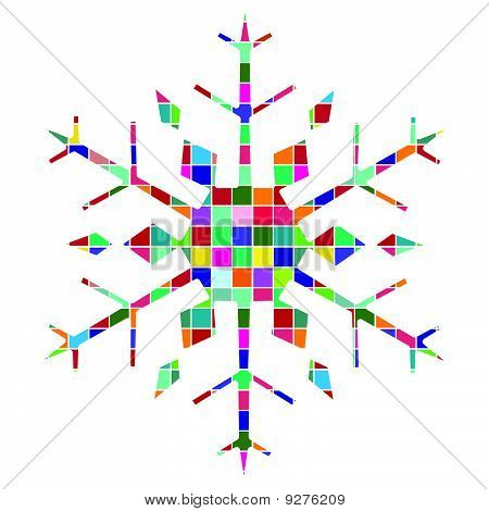 Snowflake Multicolored