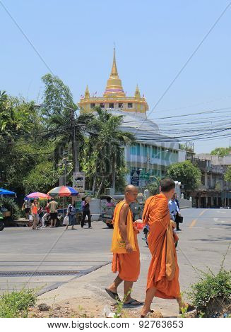 Monk Buddhism Bangkok Thailand
