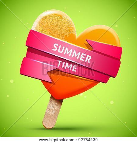 Summer Bright Orange Ice Cream