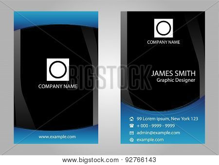 Abstract vertical business cards. Vector business card design template.