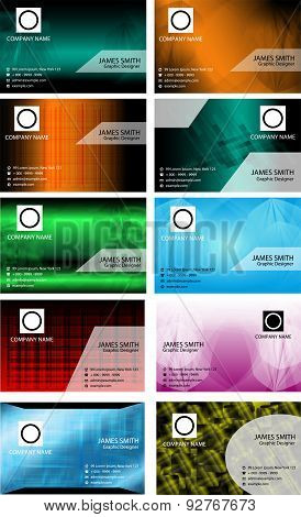 Big set of business card templates