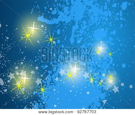 Blue Abstract background. sky with stars