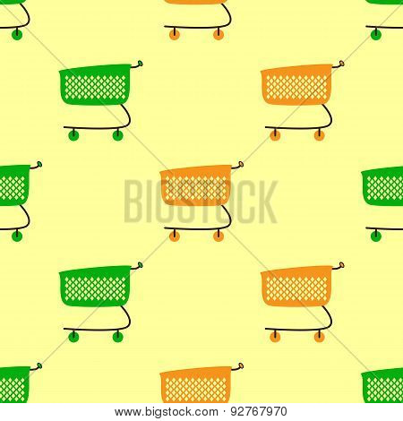 Colorful Shopping Carts Background
