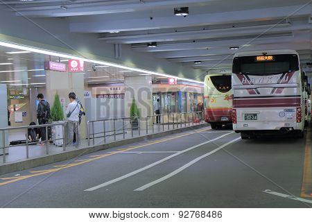 Bus terminal Osaka Japan