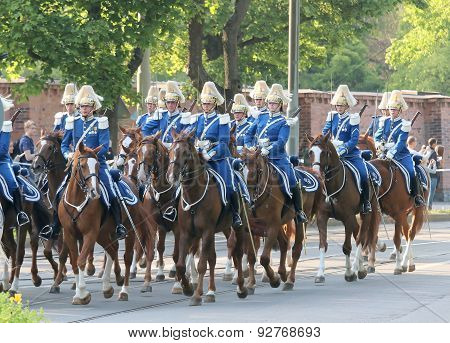 The Royal Guards On The Horse Back