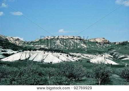 white mountain in Crimea