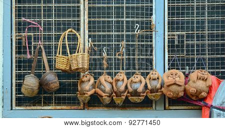 Traditional Handicraft Puppets In Myanmar